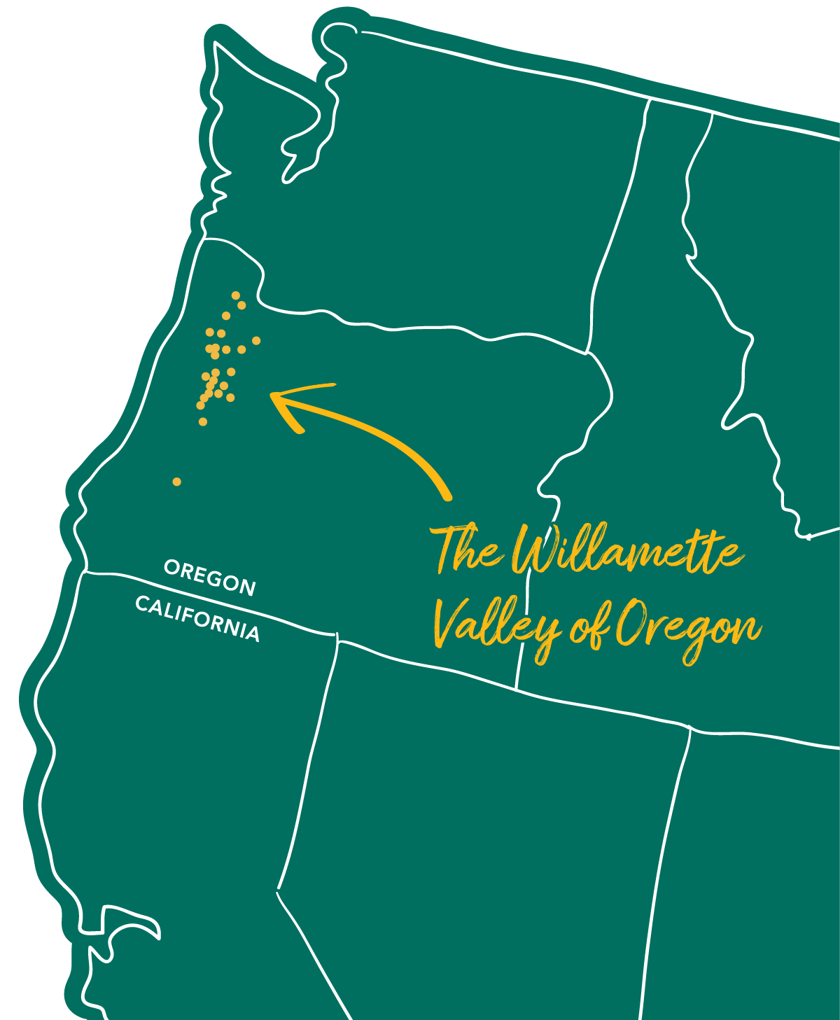 map of Oregon Meadowfoam Growers